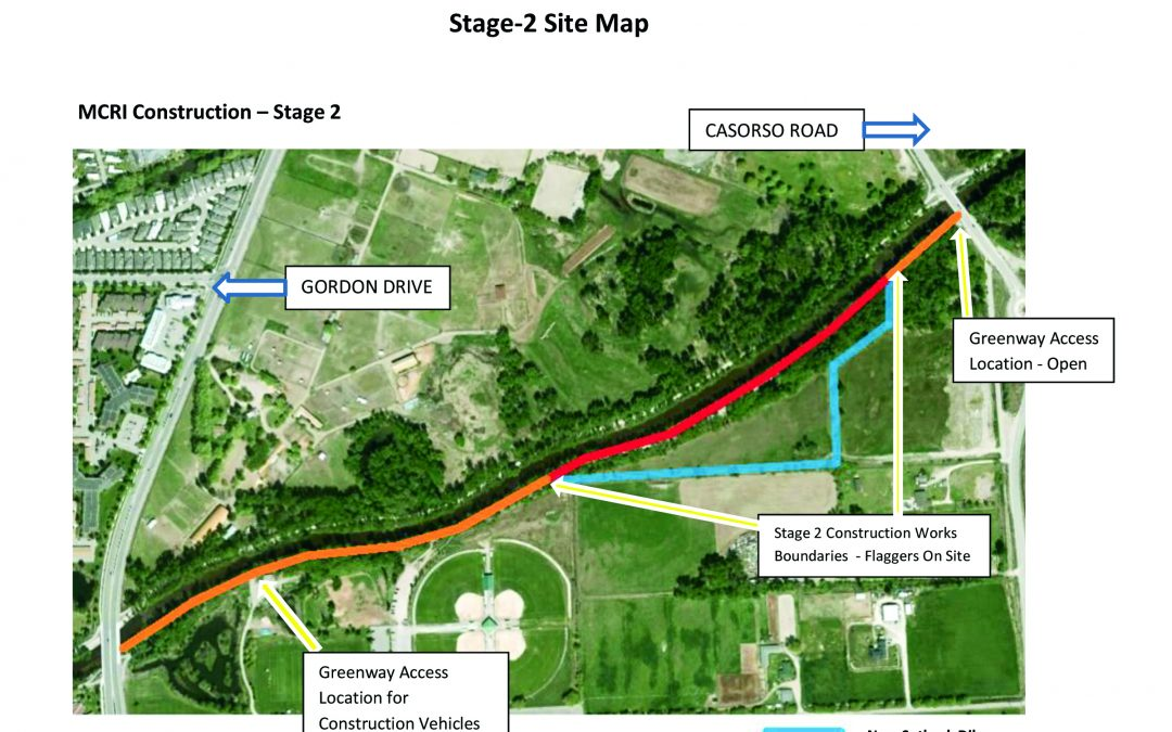 Stage 2 Mission Creek restoration underway between August 2nd and 12th